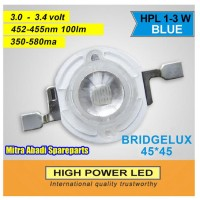HPL 3W / High Power LED 3 Watt Bridgelux Blue
