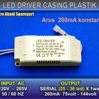 LED Driver BH (25-36)*1W/1 Watt 260 mA Casing Plastik
