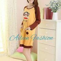 harga Baju tidur daster dress lengan panjang cute paulfrank coklat murah Tokopedia.com