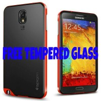 HYBRID SGP/SPIGEN SLIM CASE SAMSUNG NOTE 3 FREE TEMPERED GLASS
