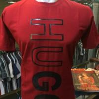New! Kaos fashion Hugo Katun merah