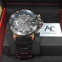 Jam Tangan Alexandre Christie AC 9205 MC Black Rose Gold