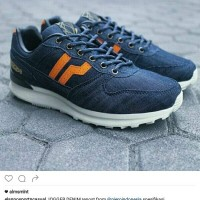 SEPATU CASUAL PIERO JOGGER DENIM - NAVY/GREY/OFF WHITE