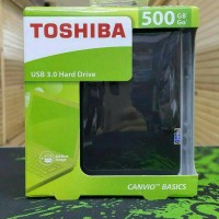 harga Hardisk eksternal toshiba basic 500gb Black Tokopedia.com