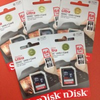 Sandisk Ultra SDHC / SDXC 64 Gb Memory Card UHS-I Card Class10 48 MB / S