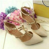 harga ELEGANT HIGH HEELS VALIN CREAM 195 - Sepatu Wanita / Highheels / Shoes Tokopedia.com