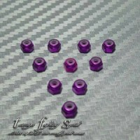 Rep Tamiya 94907 2mm Aluminium Lock Nut For Screw (Purple) NS206