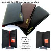 Dompet Pria Dan Wanita / Unisex Import W Slide