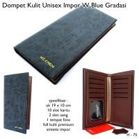 Dompet Kulit Pria Dan Wanita / Unisex Import W - Blue Gradasi