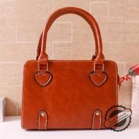 tas hobo hand tote bags coklat oranye simple bagus besar medium wanita