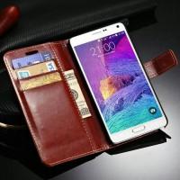 harga Leather case handphone samsung galaxy note 4 flip case cover soyo utco Tokopedia.com