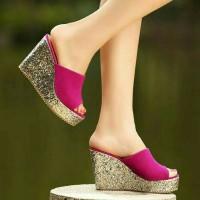 sepatu wedges high heels sneaker casual vintage boot kets ms01 fanta