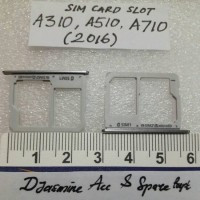 Samsung Galaxy A3 A310 A5 A510 A7 A710 - Grey/Gold Sim Card Slot