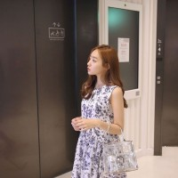 harga Cute Mini Dress Putih Tanpa Lengan Motif Floral Bunga- Bunga Import Tokopedia.com