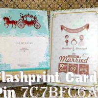 kartu undangan pernikahan hotprint kereta kencana