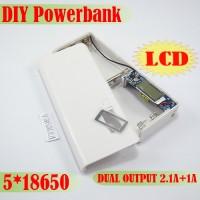 DIY Powerbank LCD Casing Modul Enclosure Case Power Bank 5x 18650 2.1A