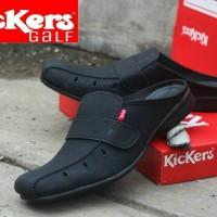Sepatu Sandal Kickers Hitam + Tutong Slipon Murah