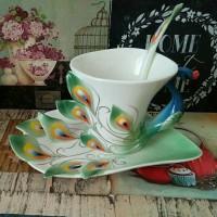 harga Teacup / cangkir keramik merak Tokopedia.com