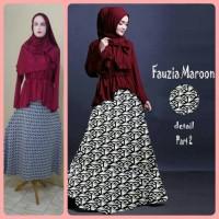 Jual Gamis Syari murah Fauzia Set Maroon (Cantik, Terbaru, Modis, Modern) Murah