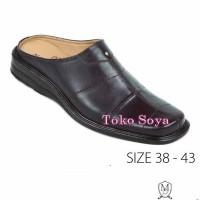 Bustong Sandal Selop Pria Bahan Kulit Max Baghi 1287 Toko Soya
