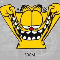 Cutting Stiker Mobil, Stiker Garfield Big Smile Ukuran 30cm