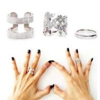 cincin 1 set 3pcs / three-piece metal blade joint ring JCI011