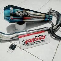 Knalpot M4 Blue To Ninja RR Mono, CBR150 / Lokal / Facelift, CB 150R (PNP)