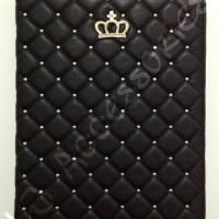 Flip Cover / Case iPad Mini 1/2/3 Crown Hitam (hard)