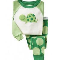 harga Piyama Anak Murah / Set Pajamas Gap H.k - Turtle White Green Tokopedia.com