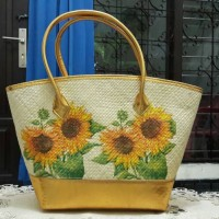 tas decoupage sun flower