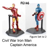 FG146 Pajangan Figure Set Iron Man & Captain America Isi 2