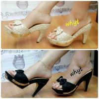 harga Sepatu Wanita Brukat / High Heels Brokat Sn35 Tokopedia.com