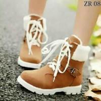 Sepatu Boots Wanita Tali Winter Ala Korea