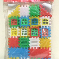 Mainan Puzzle Bangunan Rumah - House Blocks premium