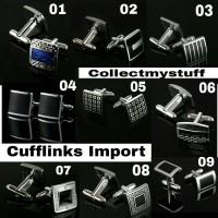 Men Import Cufflink Cufflinks Silver Gold Button Kancing Manset