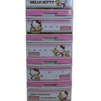 Lemari plastik/mini container serbaguna napolly hello kitty susun 5