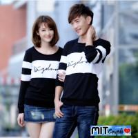 Jual Kaos couple lengan panjang wisdom hitam putih - baju pasangan Murah