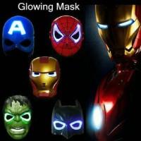 Jual mainan anak topeng superhero avengers ironman spiderman hulk batman Murah