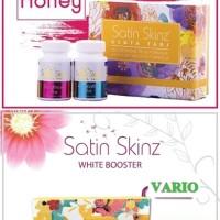Paket SATIN SKINZ GLUTA TABS & SATIN SKINZ WHITE BOOSTER Original 100%
