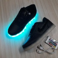 Sepatu Nike Air Led Shoes Lampu Hitam 36-44 Vietnam Grade Ori Unisex