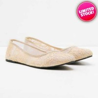 Sepatu Wanita Fashionable - Sabrina Creamie Lace Shoes