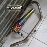 Knalpot Racing Akrapovic Garda Rainbow Fullset Las Argon Le Promo