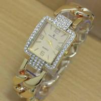 Jam Tangan Wanita / Cewek Louis Vuitton Kotak Diamond Kep HIGH QUALITY