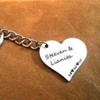 harga Gantungan Kunci Nama Pasangan , Custom Couple Stainless Steel Keychain Tokopedia.com