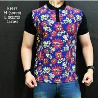 harga F.3947 kaos kerah pria lengan pendek motif batik Tokopedia.com