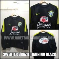 [BISA PAKAI INISIAL] SWEATER BRAZIL TRAINING BLACK