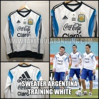 [BISA PAKAI INISIAL] SWEATER ARGENTINA TRAINING WHITE
