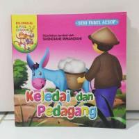 Buku Cerita Keledai Dan Pedagang 2 Bahasa Full Color Murah Meriah