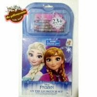 Jual Frozen On The Go Sketch Set (Buku Mewarnai & Sticker) Murah