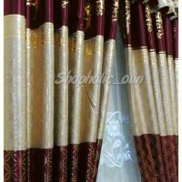 gorden bunga benang emas 150*250 cm